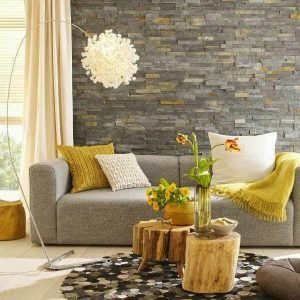 Revestimiento de pared ladrillo y piedra
