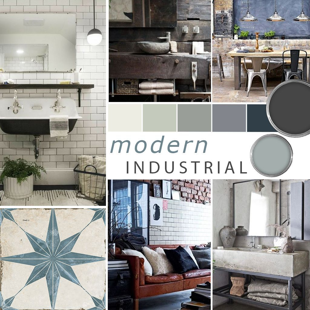 moodboard - industrial - toons and tiles