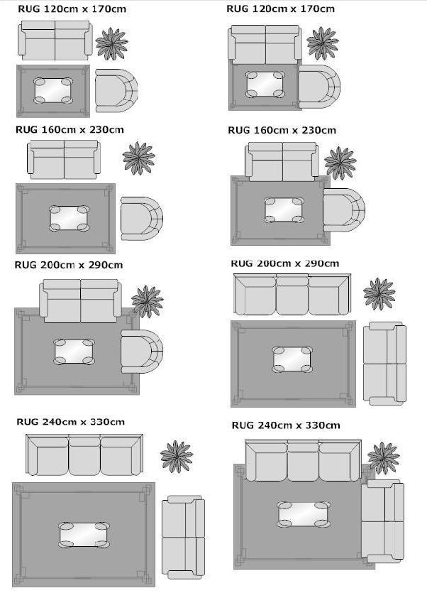 alfombras distribución salón